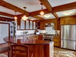 Chef`s Kitchen - Stainless Steel Appliances & Cherry Cabinetry