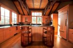 Beautiful wood features in kitchen