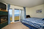 Master bedroom upstairs w/ views of Lake Tahoe