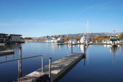 Walk to beach marina front Tahoe Keys condo with boat dock