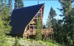 Classic A-Frame Cabin in the Woods