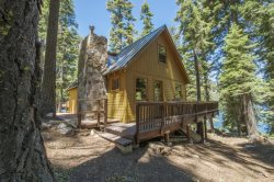 Rustic Fallen Leaf Lake cabin with partial lake views