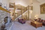 Living Room w gorgeous staircase