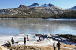 Ice skating on Caples Lake