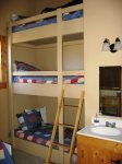 Cool 3 story bunk bed in loft