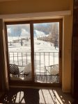 View from living room to slopes