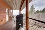 Eagle Trail Lodge deck with gas grill.