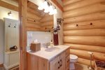 Dakota log Cabin bath.