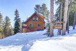 Arrow Lodge- Winter view from the side.