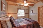 Arrow Lodge- Upstairs bedroom with Queen bed.