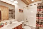 Arrow Lodge- Bath with shower /tub combo.