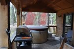 Hot tub on front  deck.