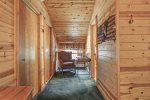 Black Bear Lodge with hallway to bedrooms.