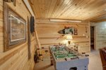 Cabin Fever bath with walk in shower.
