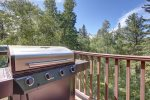 Back deck with gas BBQ grill