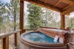Iron Horse Cabin deck with Hot Tub.