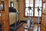 Clubhouse exercise room.