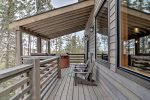 Gray Goose Lodge deck with Hot Tub.