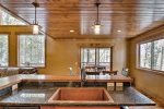 Gray Goose Lodge beautiful kitchen and dining room.
