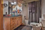 Stair case to the loft bedroom.