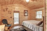 Eagle`s Lair bedroom with Queen bed.