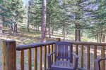 Eagle`s Lair deck with forest views.