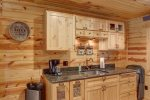 Eagle`s Lair kitchen with granite counters.