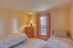Chase`s cabin deck with views and dining area.
