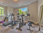 Utah Lodging / Elkhorn Home / Lower Level / Gym