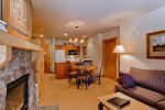 Open Living Room - 1 Bedroom - Red Hawk Lodge - Gondola Resorts