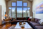 Oversized Living Room Windows - 7 Bedroom Ski-In, Ski-Out Luxury Home