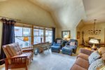 Vaulted Ceilings in Top Floor Unit - Jackpine Lodge 8011 - Keystone CO