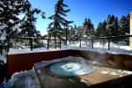 Four Slopeside Hot Tubs at The Village at Breckenridge