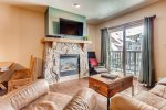 Open and Bright Living Room - River Run Village Condos - Keystone CO