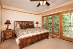 Master Bedroom - 2 Bedroom Ski-In Condo - Chateaux DuMont - Keystone CO