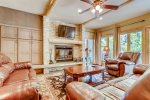 Living Room - Chateaux DuMont 3 Bedroom Ski-In Condo in Keystone CO