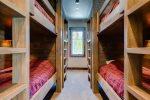 Bedroom 7 with four bunks
