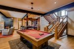 Billiards Table and Wet Bar