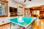 Ping Pong Table - A Mine Shaft Breckenridge Luxury Home