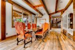 Dining Table - A Mine Shaft Breckenridge Luxury Home