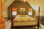Master bedroom with king bed on second level
