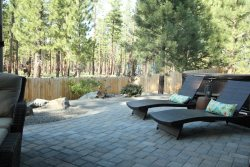 Back patio with 2 reclining lounge chairs