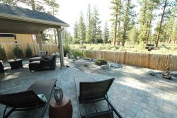 Spacious, comfortable and private back patio area