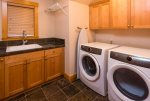 Full size Laundry Units even with a sink for stains
