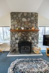 Beautiful Large Stone Fireplace