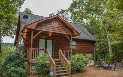 BUCKY'S MOUNTAIN VISTA- 2 BR/2 BA Cabin With Beautiful Mountain View, Hot Tub, Dog Friendly, WIFI, Fire Pit, Gas Log Fireplace, Sleeps 6, 4 Wheel Drive Only! Starting At $100 A Night!
