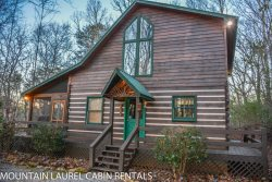 POPPY'S MOUNTAIN HOUSE: 3BR/2BA Cabin With A Mountain View! Hot Tub, Gas Grill,  Wood Burning Fireplace, Wifi, Fire Pit, Sleeps 6, Starting At $100 a night!