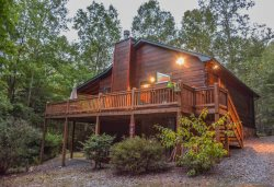 BUMPA BEAR HIDEAWAY- Adorable 2BR/ 3BA Cabin In The Aska Adventure Area, Dog Friendly, Sleeps 6, Pool Table, WIFI, Sat TV, Hot Tub, Fire Pit, Wood Burning Fireplace, Gas Grill, Starting At $104 Per Night!