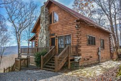 ROBYN'S NEST: 3BR/3BA Cabin With A Breathtaking Mountain View! Sleeps 6, Wifi, Cable TV, Hot Tub, Gas Log Fireplace, Outdoor Fire Pit, Gas Grill, ABSOLUTELY NO PETS, NO EXCEPTIONS, Starting At $180 a night.