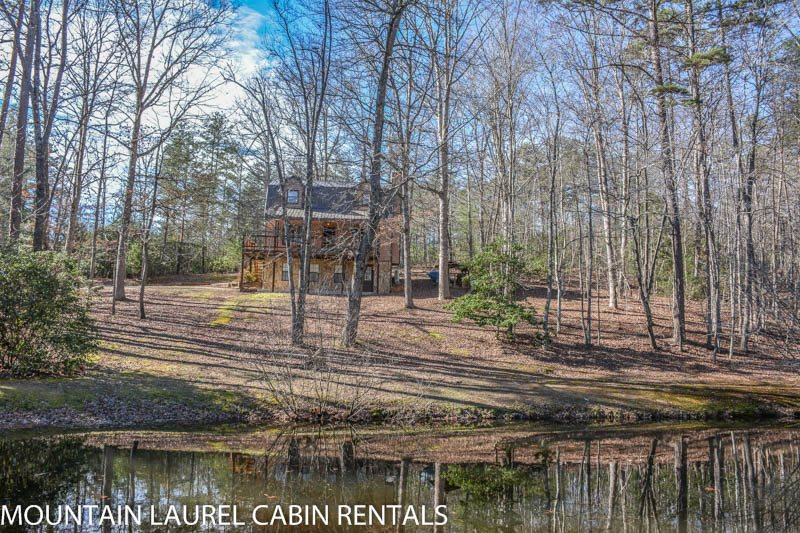 KINGDOM CABIN #1  4BR/3BA  TOTALLY SECLUDED CABIN SLEEPS 8, PING PONG,  POND, CHARCOAL GRILL, SAT TV, WIFI, WOOD BURNING FIREPLACE, PORCH SWING, ...